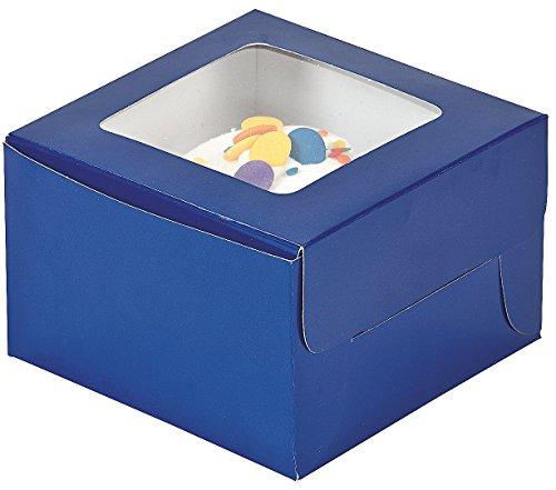 Dozen Blue Cupcake Boxes