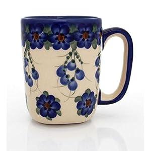 Classic Boleslawiec Pottery Hand Painted Ceramic Mug 0.3 Litre 058-U-001