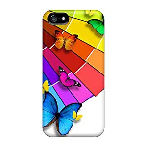 Iphone 5/5s Case Cover Colorful Butterflies Case - Eco-friendly Packaging