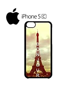 Bonjour Paris Eiffel Tower Mobile Cell Phone Case Cover iPhone 5c White