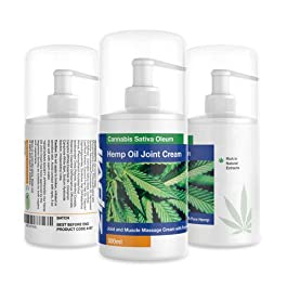Hemp Cream Joint & Muscle Massage Gel with Active Hemp 300ml