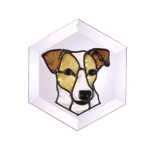 (Jack Russell Terrier Painted Glass Suncatcher (Ew-250))