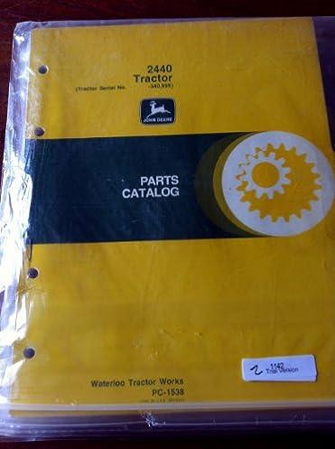 41yK8Akxz3L._SX371_BO1204203200_ john deere 2440 tractor parts manual prior to s n 340999 amazon com