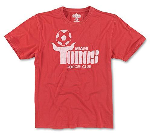 Red Jacket Miami Toros NASL Men's Brass Tacks Distressed Logo T-Shirt -
