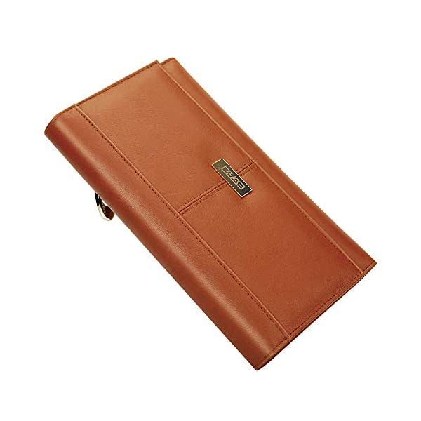 Wallets for women, EGRD Woman's RFID Blocking Large Capacity Luxury Genuine Leather Clutch Wallet, Trifold Wallet Ladies Purse 20 Card Slots, 1 Zipper Phone Case with Gift Box for Birthday& Xmas Gift