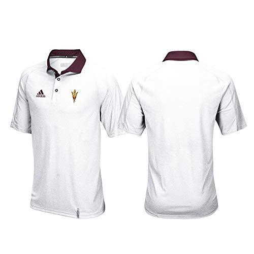 adidas Arizona State Sun Devils NCAA Men's Sideline Climachill Performance White Polo Shirt ()