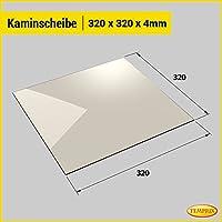 Kaminglas und Ofenglas 320 x 320 x 4 mm   Temperaturbeständig bis 800° C   » Wunschmaße auf Anfrage «   Markenqualität in Erstausrüsterqualität