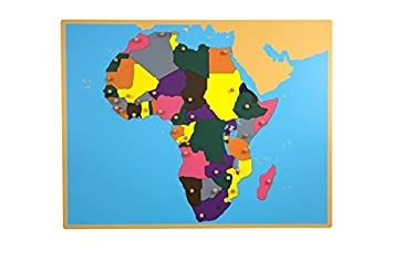 Map Of Africa Games.Montessori Puzzle Map Of Africa Amazon Co Uk Toys Games