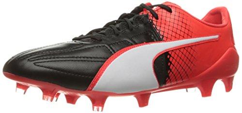 Puma Mens evoSPEED 1.5 Lth FG Soccer Shoe Puma Black/Puma White