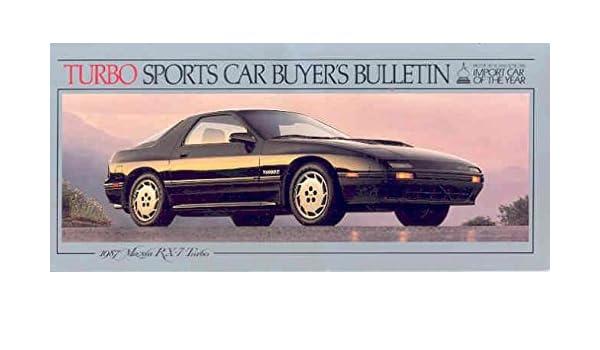 Amazon Com 1987 Mazda Rx7 Turbo Sales Brochure