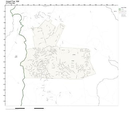 Amazon.com: ZIP Code Wall Map of Angel Fire, NM ZIP Code Map ...