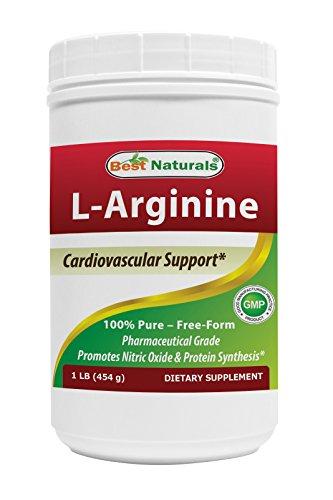 L-Arginine en poudre 1 LB par meilleurs Naturals - 100 % Pure - forme libre - qualité pharmaceutique