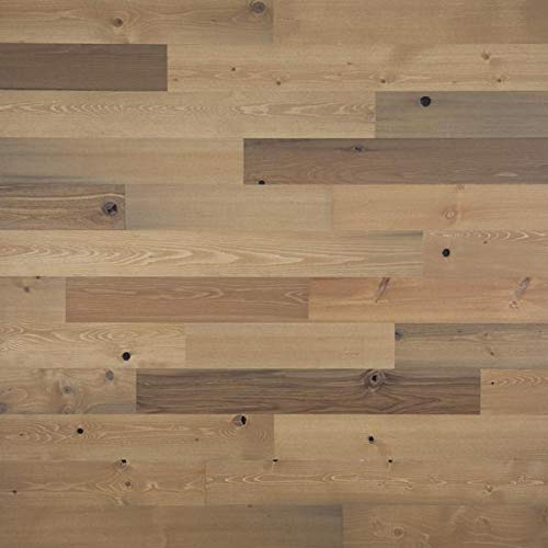 """Timberchic DIY Reclaimed Wooden Wall Planks - Simple Peel and Stick Application. (4"""" Wide - 10 Sq. Ft, Sandy Beach)"""