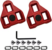 Bike Cleats, Cycling Cleats Bike Cleats Compatible with Look Delta Pedals (9 Degree Float), Road Cycling-Incom