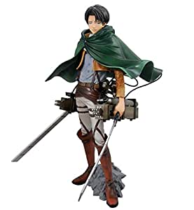 Banpresto Ataque a los titanes / Attack on Titan Figure - Master Stars Piece Shingeki no Kyojin Levi (25cm) (Ver. MSP) + 3D Maneuver Gear
