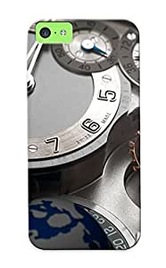 Fashion Tpu Case For Iphone 5c- Greubel Forsey Watch Time Clock (25) Defender Case Cover For Lovers