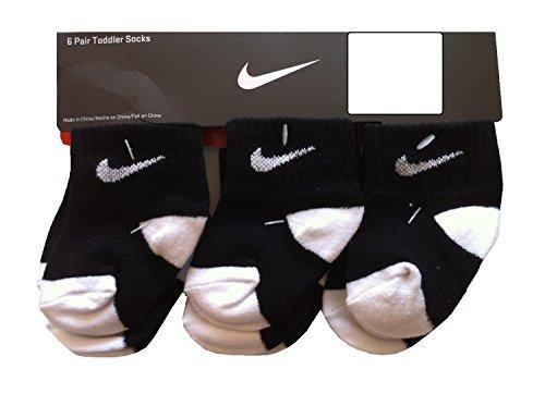 Nike Infant Socks (Nike Infant Baby Socks BlackWhite 6 Pairs, Size 12-24 Months)