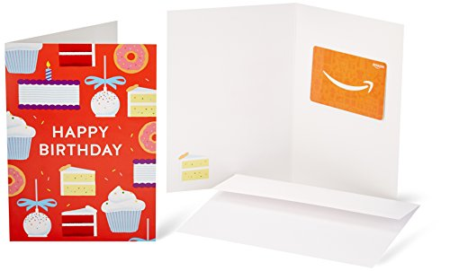 - Amazon.com Gift Card in a Greeting Card (Birthday Cakes Design)