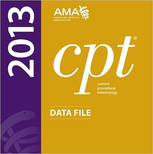 CPT 2013 Data File on CD-ROM Single User ASCII Only