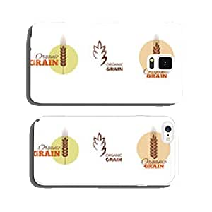 Wheat symbols and labels. Vector design elements set. cell phone cover case Samsung S5