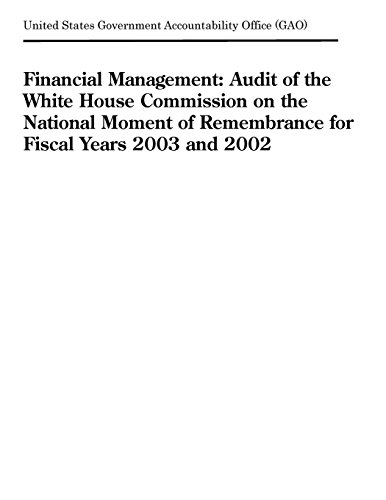 Financial Management: Audit of the White House Commission on the National Moment of Remembrance for Fiscal Years 2003 and 2002
