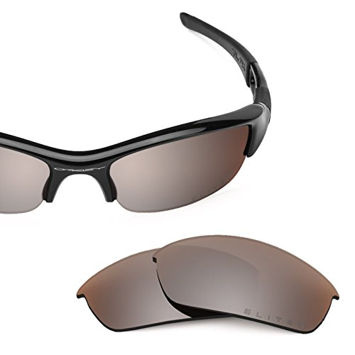 Revant Polarized Replacement Lenses for Oakley Flak Jacket Elite Flash Bronze MirrorShield by Revant