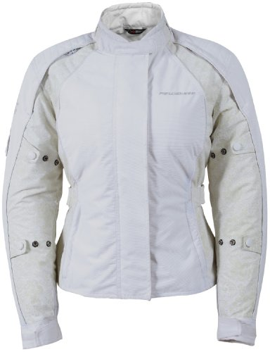 Fieldsheer Lena 2.0 Women's Textile Street Bike Motorcycle Jacket - White / Medium - Fieldsheer Street Bike