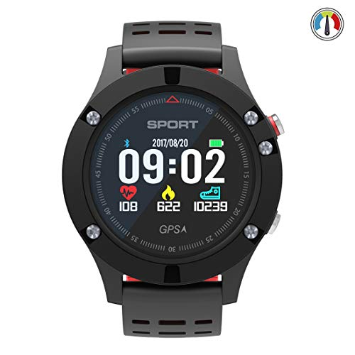 GPS Smart Watch,Sports Watch with Built-in GPS, Altimeter/Barometer/Thermometer, Fitness Tracker Supports Running,Hiking Climbing,IP67 Waterproof Heart Rate Monitor, Mens Smartwatch