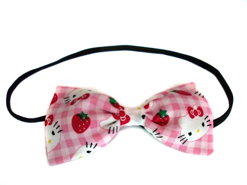 Hello Kitty Collection-hair Bows for Girls, Teens, Gifts for Her. (Strawberry Kitty, Headband)]()