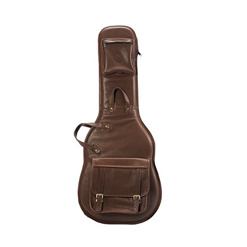 Levy's Leathers LM18-BRN Leather Deluxe Electric Guitar Bag, Brown -