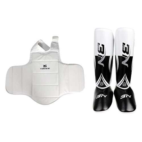 MonkeyJack Chest/Foot/Leg Guard Body Protector Guards MMA Muay Thai Kick Boxing Sports by MonkeyJack