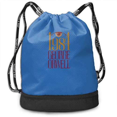 Vansion 1981 George Orwell Multifunctional Beam Bag Light Sports Bag Waterproof Drawstring Bag Folding Backpack (Orwells Cassette)
