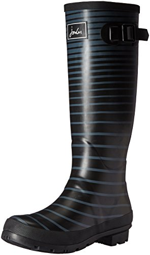 Joules Women's Welly Print Rain Boot, Cool Grey Ombre Str...