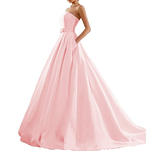 - Fair Lady Women's Ball Gown Strapless Prom Dress Evening Party Formal Dresses Pink