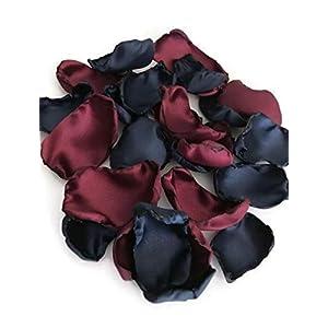 Navy Blue maroon mix of 100 flower petals 96
