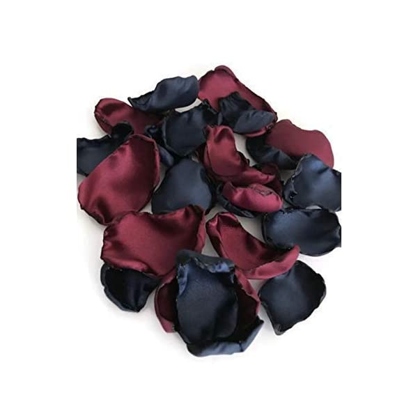 Wedding bridal baby shower decor Navy Blue maroon mix of 100 flower petals