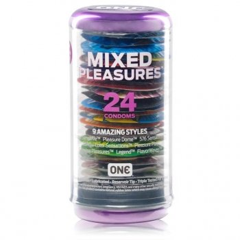 ONE Condoms ONE Mixed Pleasures, 24 Pack