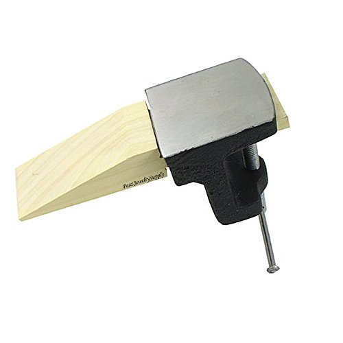(BENCH ANVIL PIN CLAMP JEWELERS STEEL & WOOD BLOCK JEWELRY MAKING BENCH WORKBENCH (LZ 3.1 FRE))