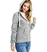 esstive Women's Ultra Soft Fleece Comfortable Basic Casual Active Lounge Solid Lightweight Full Z...