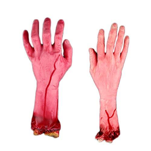 Sagton Halloween Scary Fake Hand, Prank Toys Halloween Horror Props Lifesize Haunted Pa