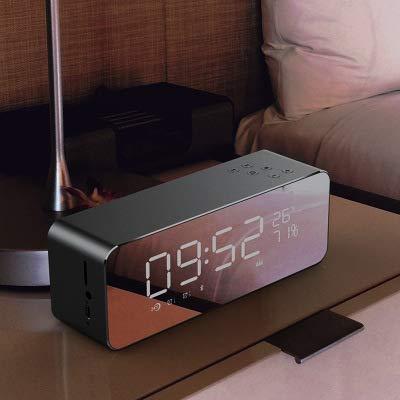 xingganglengyin Alarm Clock Speaker Audio Wireless Bluetooth subwoofer New Creative Bedside Mirror by xingganglengyin (Image #3)