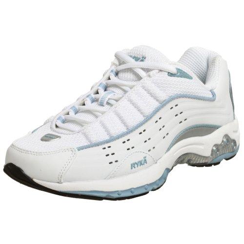 Cheap Ryka Women's N-Gage Trainer Training Shoe,White/Silver/Glacier,10 M