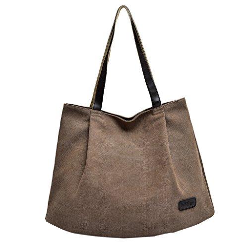 Handbag Bag Women's Described as Reusable Coffee Shopping Shoulder Bag Coffee Tote Prettyia Large Canvas Casual P Travel TqnH87wn