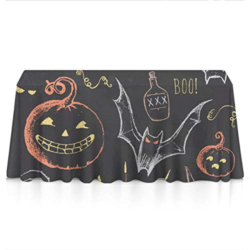 GLORY ART Rectangle Tablecloth - Happy Halloween Party - Waterproof Washable Polyester Fabric Table Cloth Cover for 8 Foot Table for Dinner/Decor/Banquet/Restaurant/Indoor/Outdoor((60