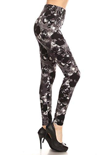 - R950-PLUS Skull Hunt Print Fashion Leggings