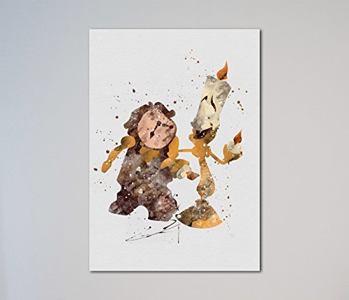 Beauty and the Beast Lumiere and Cogsworth Print