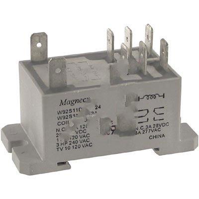 Schneider Electric/Magnecraft 92S11D22D-24 , Relay; E-Mech; Power; DPDT; Ctrl-V 24DC; 30A-NO, 3A-NC; 300V; Panel Mnt; QC - Ctrl Panel