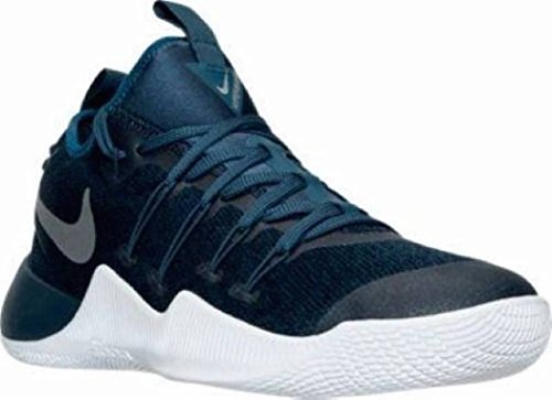Image of the NIKE Mens Hypershift Basketball Shoes Squadron Blue/Metallic Silver (9)