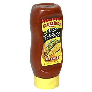 Old El Paso Taco Sauce Mild Squeeze Bottle. 13.4-Ounce Bottle