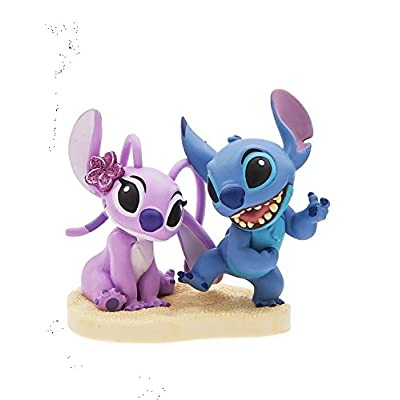 "Disney Lilo And Stitch 3"" Stitch With Girl Friend Angel Pvc Figure Figurine Wedding Cake Topper Collectible Toy: Toys & Games"
